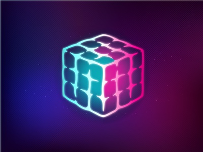 Brain - Rubik's Cube cube rubik retro 80s brain logic techno