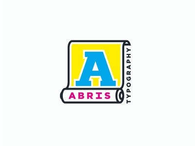 Abris black yellow magenta cyan cmyk a abris typography logo
