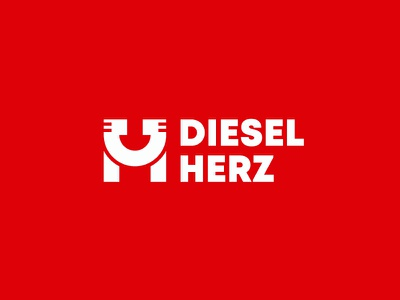 DIESEL HERZ vehicle car auto center assistance technic identity corporate logo