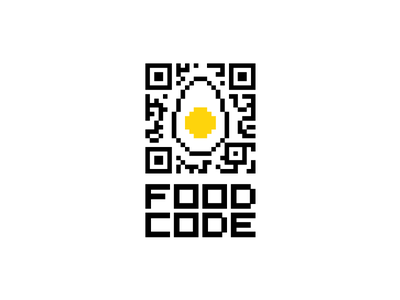 Food Code flat logo eating egg online courses food eat