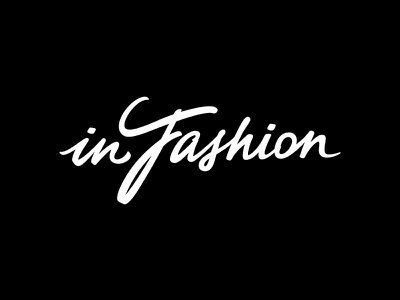 In Fashion logotype design fashion logo furniture lettering