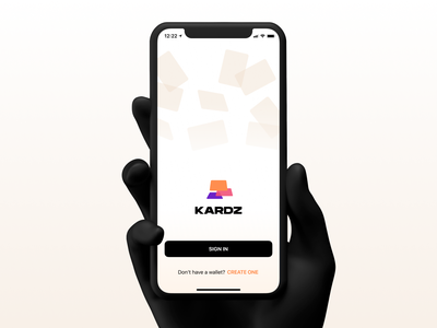 KARDS | Landing screen cards ios sign in logo cards ui