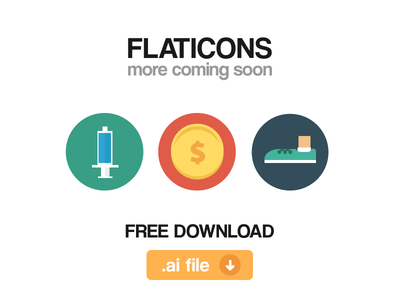 Flaticons (.ai freebie) freebie free download flaticons flat icons free source