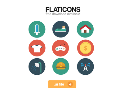 Flaticons full set (.ai freebie)