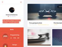 Flat portfolio interface flat ui minimal portfolio profile