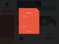 Flat portfolio contact page