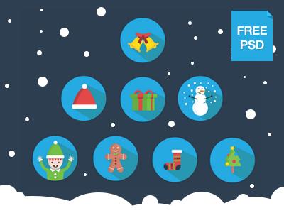 Free flat Christmas pack christmas free flat icons christmas icons flat icons