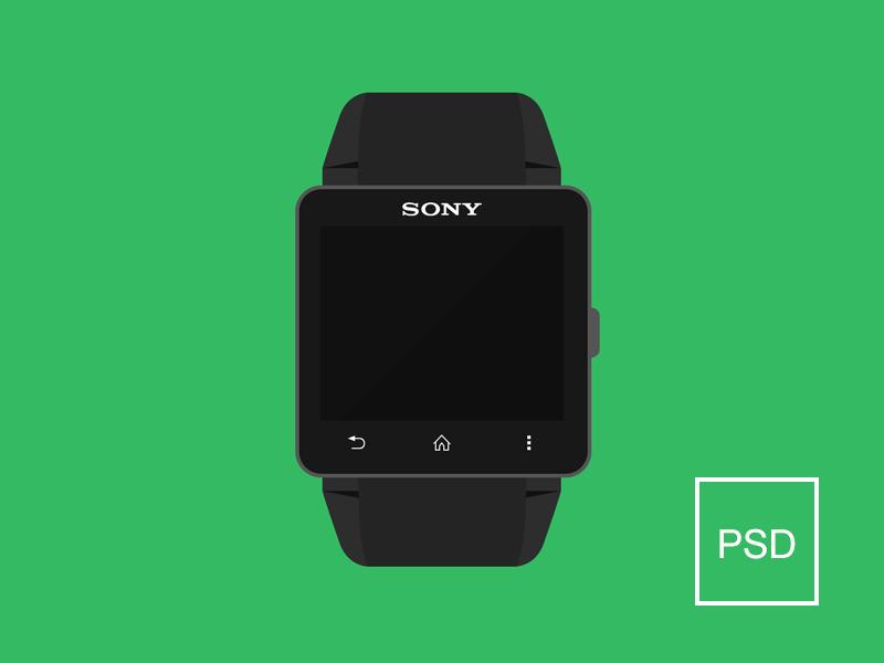 Smartwatch 2 Free PSD smartwatch flat psd sony free psd