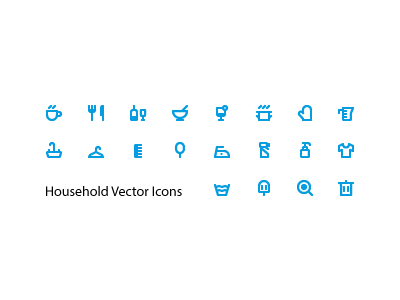 Free Household Icon Set freebie glyphs vector glove soap icon laundry coffee sink household icons free