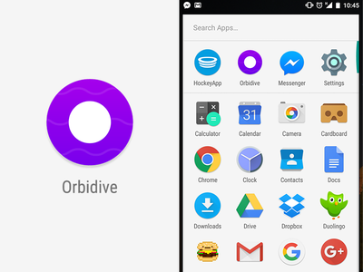 Orbidive Icon material android icon appicon gamedev indiedev