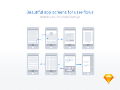 User flow assets ( Free .sketch file )