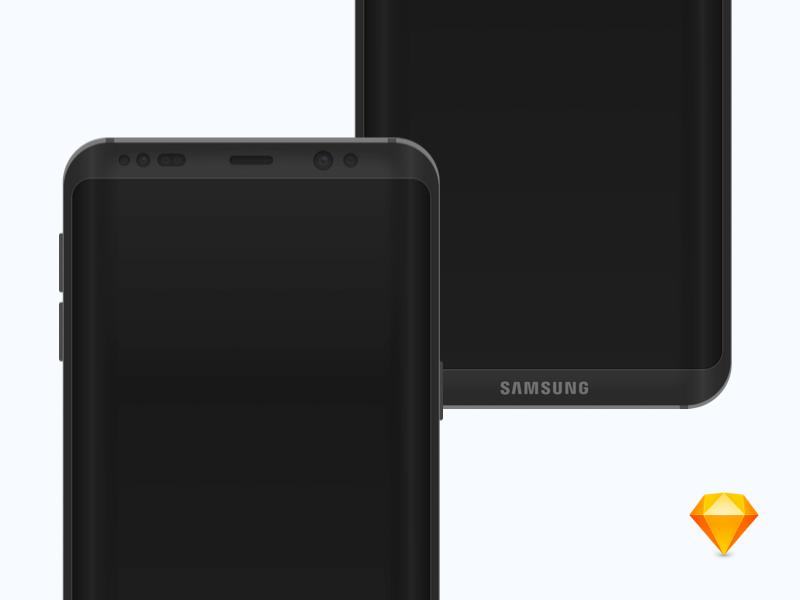 Samsung Galaxy S8 Concept Mockup psd free sketch concept mockup samsung s8 galaxy