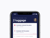 Timeline for a luggage app