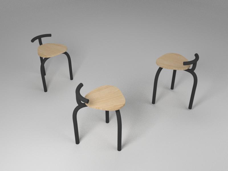 Ogle Chiar 3D Render (1/10) ogle chair model render 3d blender