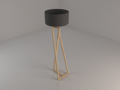 ZED Floor Lamp (5/10) beginner model render lamp floor 3d blender