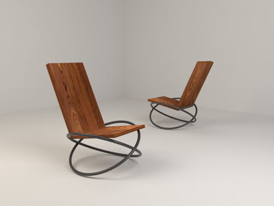 Bascule Chair by Andre Joyau 3D render interpretation (7/10) blender chair model 3d render