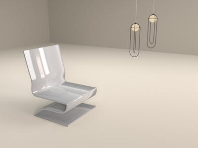 Acrylic Chair (8/10) curves bezier bsdf chair acrylic 3d blender