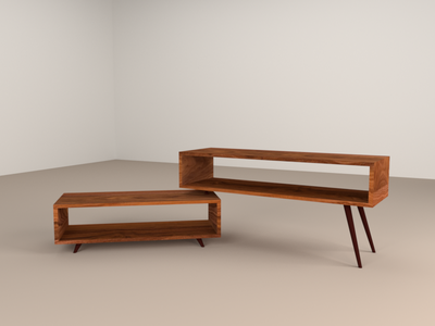 Scandinavian style TV Cabinet (9/10) b3d render model furniture 3d blender
