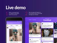 Eventfeed — онлайн платформа для общения на мероприятиях.