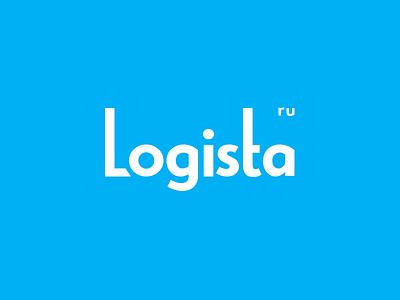 Logista - logotype logistic company typeface grotesque type text minimal blue logotype logo logistic