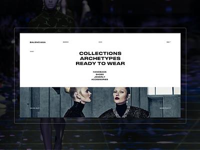 Balenciaga. Redesign concept dress mobile webdesign web motion minimal desktop ecommerce fullscreen website ux ui