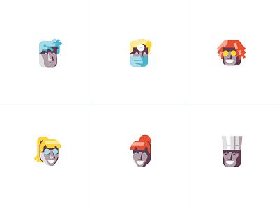 Avatars illustration ui ux freelance detroit icons iconography avatars