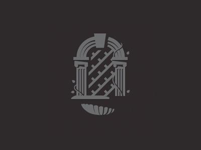Ivory Garden Records Logo illustrator detroit freelance available for hire cool dark illustration designer design elegant fountain stone logo vector garden flat design flat