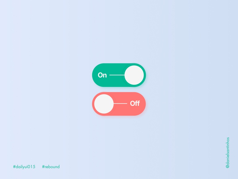 Daily UI #015 - On/Off Switch (Rebound)