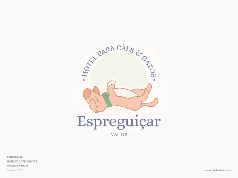 Espreguiçar // logofolio cat lover puppy logotype logofolio lazers lazer espreguiçar dog house cat logo dog logo cat dog hotel logo hotel elvas vagos logo graphic designer freelancer aveiro