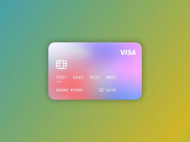 Credit card ux design ux ui design ui graphic design figma gradients gradient card credit credit cards credit card minimalism daily ui ui designer ui ux elvas graphic designer freelancer aveiro