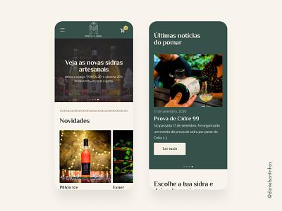 Portal da Sidra - mobile version website design web design website mobile grid ux uiux ui woocommerce mobile design mobile ui web designer layout cider sidra ui designer ui ux elvas aveiro freelancer