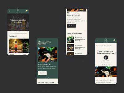 Portal da Sidra / mobile pages loja online ecommerce elvas ui designer webdesign website prototype figma responsive ui design ux ui  ux uiux ui freelance cider sidra mobile design mobile ui mobile