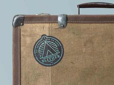 Slither logotype travelling travel agency travel aveiro elvas branding brand logo design logótipo logotype logo badge design badges badge logo badge sea sun camping camp slither