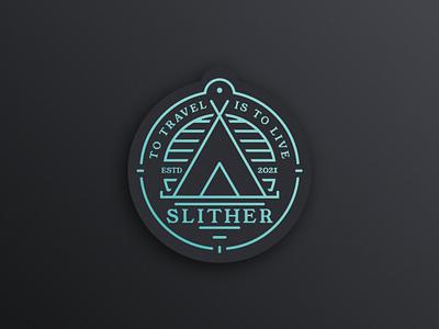 Slither logotype adventure camping logo badges logo badge badges badge design badgedesign badge logo badge live travel logótipo logotype design branding logo elvas graphic designer aveiro freelancer