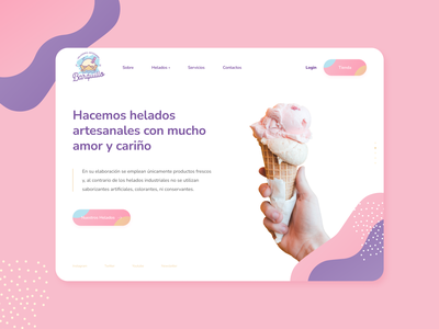 Barquillo / desktop homepage uidesign ui figma homepage ui desktop design homepage ice cream icecream gelado desktop daily ui ui design grid layout ui designer ui ux elvas graphic designer aveiro freelancer