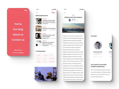 Blog Figma UI Template (for sale) ui blogging blog post blogger blog design navbar menu layout grid mobile design mobile ui mobile sale creative market figma template blog ui designer ui ux freelancer