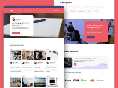 Blog Figma UI Template (for sale) figma for sale template podcast blogging blog design blog post blog homepage home desktop dailyuichallenge grid layout ui design ui designer ui ux minimalism graphic designer freelancer