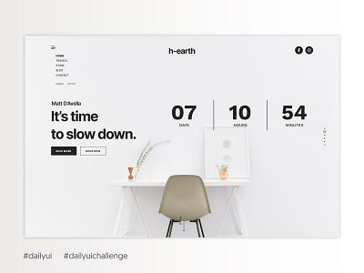 Daily UI #014 - Countdown Timer menu elvas clean design clean ui grid clock app timer counterdown dailyui014 014 layout ui ux minimalism ui designer minimalist graphic designer aveiro freelancer daily ui dailyui