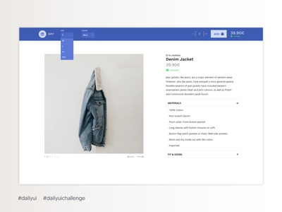 Daily UI #033 - Customize Product