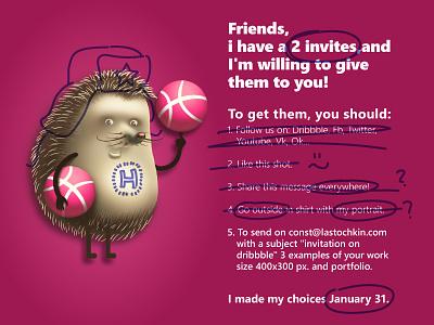 2 invitation on dribbble invites invitation