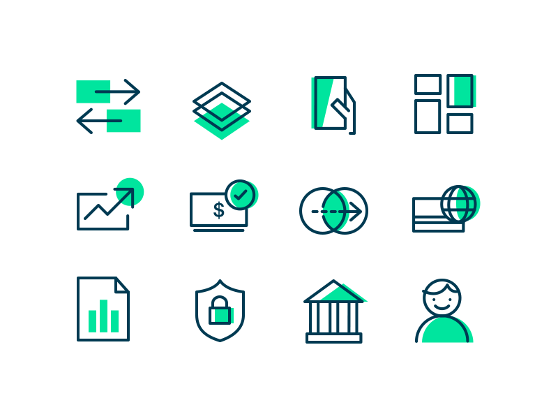 Checkout.com – Iconography finance business icon set payments checkout iconography icon