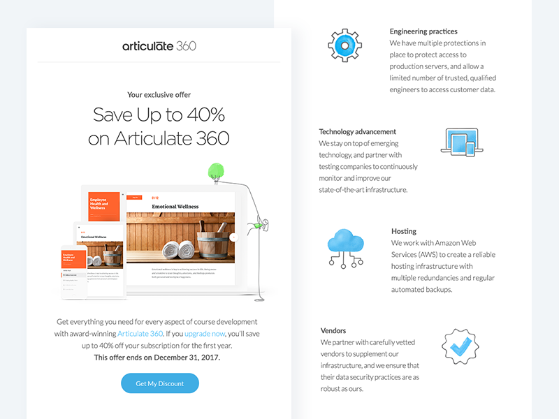 Articulate dribbble shot