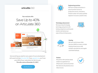 Articulate Emails learning design products articulate newsletter email