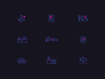 Trip booking | iconography flight luggage booking trip icon iconography