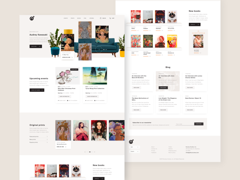Nucleus Gallery - Redesign concept