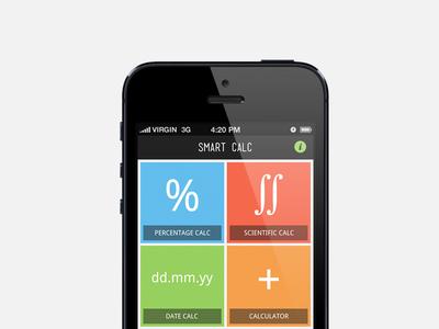 Calculator app, Main screen
