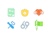Icons for the law firm