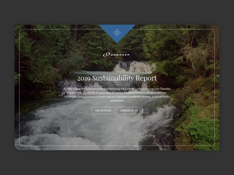 Danaher Sustainability Report design website
