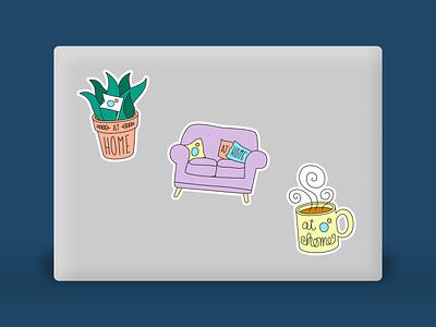 Viget - At Home Stickers sticker social media laptop sticker illustration