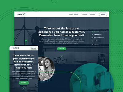 Avtex - Website Design design ui cx 2019 style guide teal green navy blue illustration website